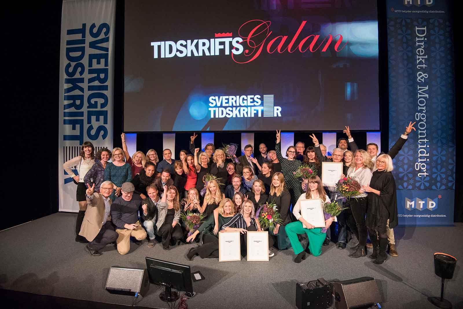 Vinnarna av Tidskriftspriset 2016.