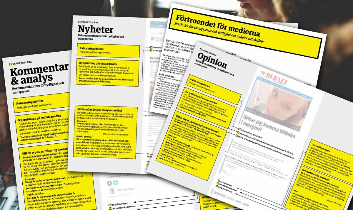 Utgivarna: Rekommendationer för transparens och tydlighet