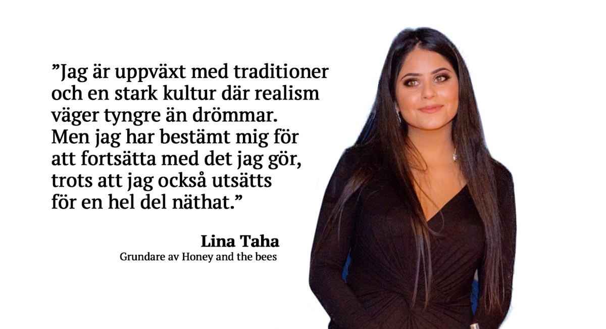 Lina Taha, grundare av facebook-gruppen Honey and the bees
