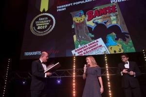 Bamse vann Årets Tidskrift Populärpress Print på Tidskriftsgalan 2017.