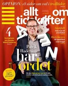 Allt om Tidskrifter omslag med Patrik Hadenius