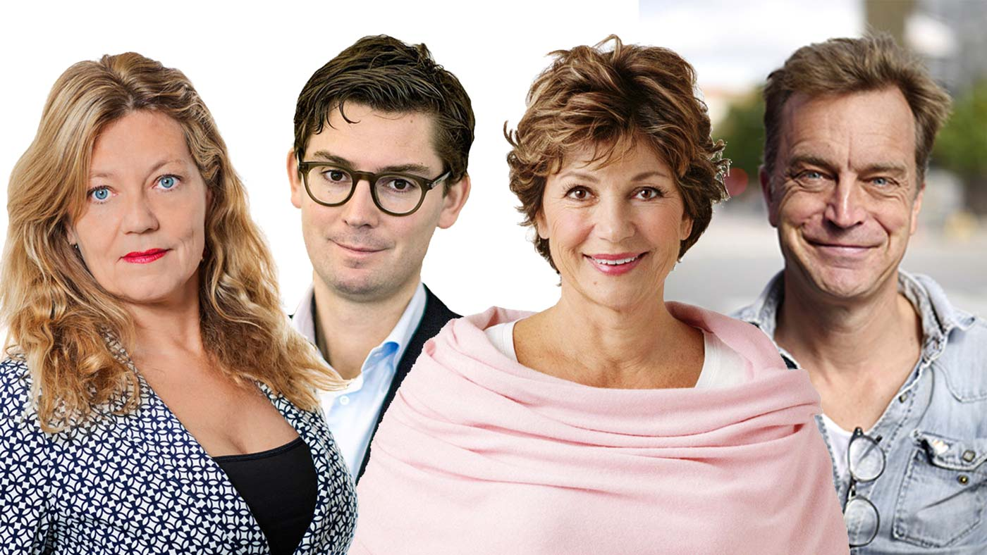 Chefernas misstag - Kollage Helena Giertta, Claes de Faire, Amelia Adamo, Viggo Cavling