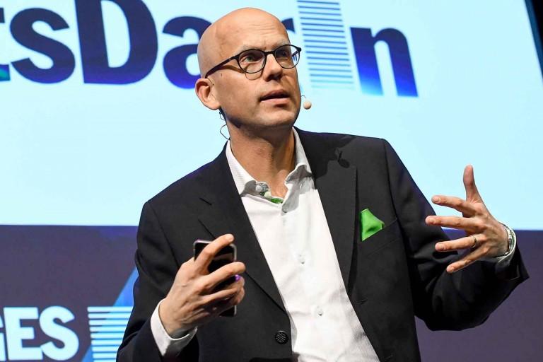 Andreas Ekström, moderator för Tidskriftsdagen