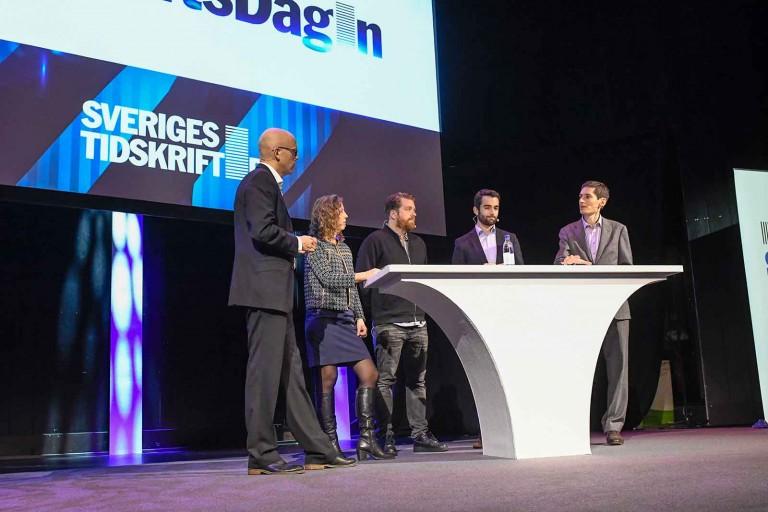 Andreas Ekström, Unn Edberg (Chef), Robert Brännström (KIT), John Severinson (Egmont Publishing), Peter Wolodarski (DN).