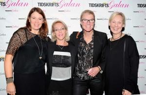 Sofia Wadensjö Karén, Syssan Wivelius, Lena Thelenius och Anna Thorsell, från tidningen VI.