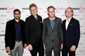 Osman Rafi, Kristoffer Steneberg, Calle Fleur och Fredrik Sventoft, från tidningen Chef.