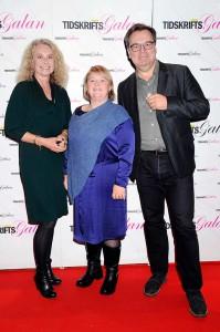 Kristina Sjöberg och Anna Wennerstrand, från Hyresgästföreningen, samt Anders Malmsten, från Malmsten Media.