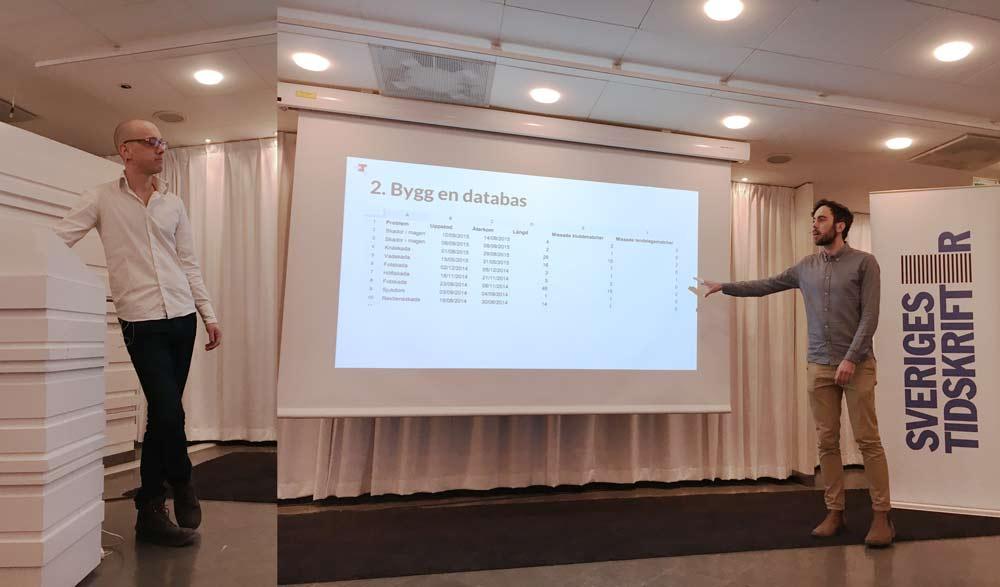 Leo Wallentin och Jens Finnäs från Journalism++