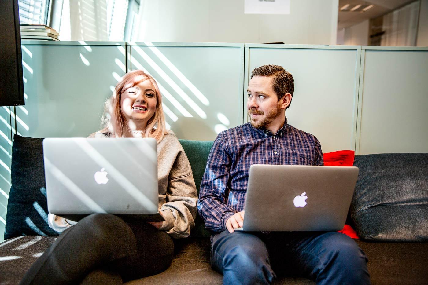 Margret Atladottir och Eric Rosén, grundare av Politism. Foto: Jessica Segerberg