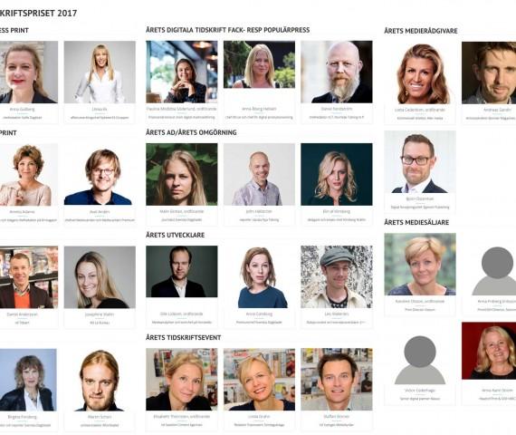 Jurymedlemmar Tidskriftspriset 2017