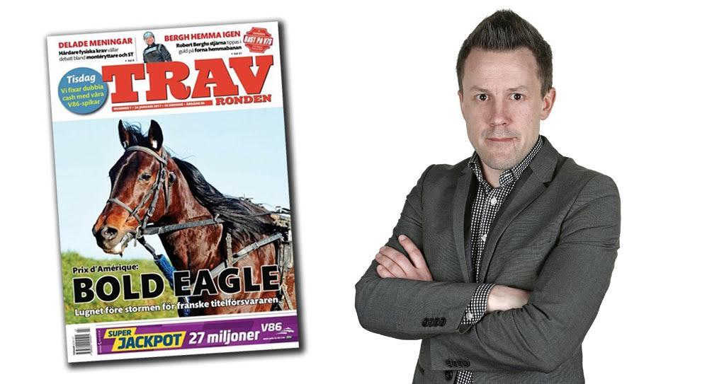 Travrondens chefredaktör Joakim Svensson