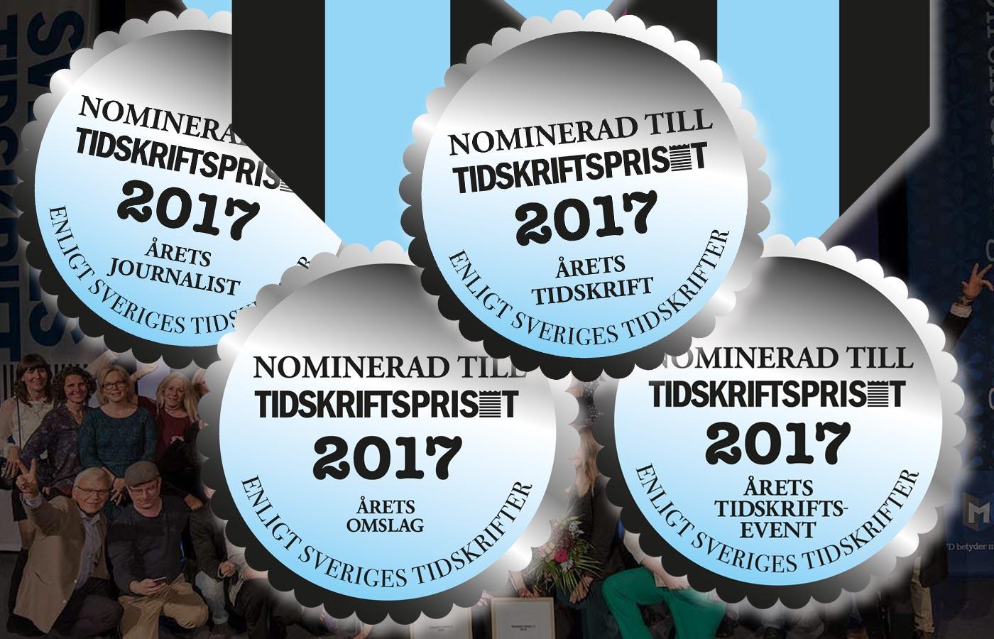 Medaljer Tidskriftspriset 2017 omgång 2