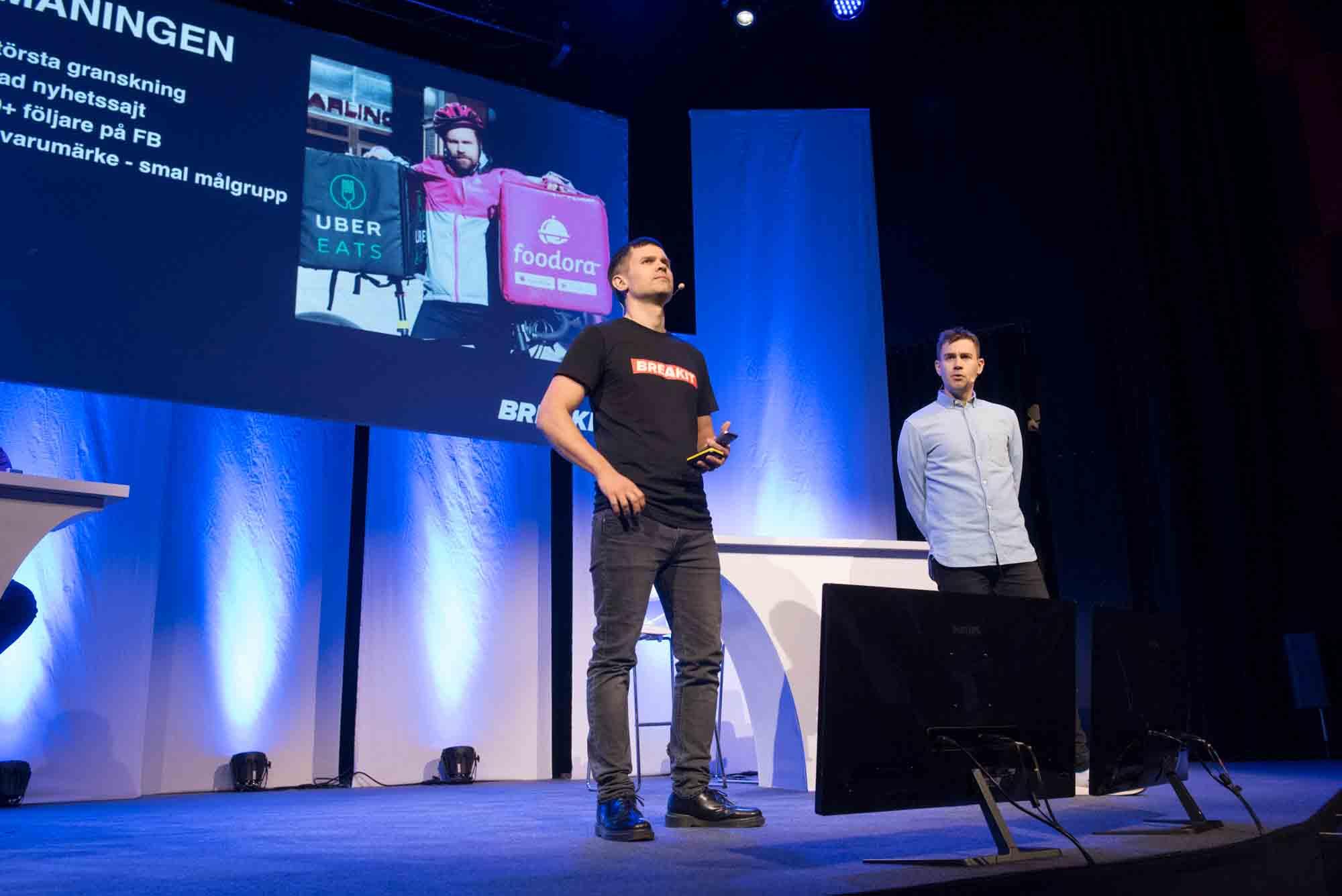 Erik Wisterberg och Jon Mauno Pettersson, Breakit. Foto: Anette Persson.