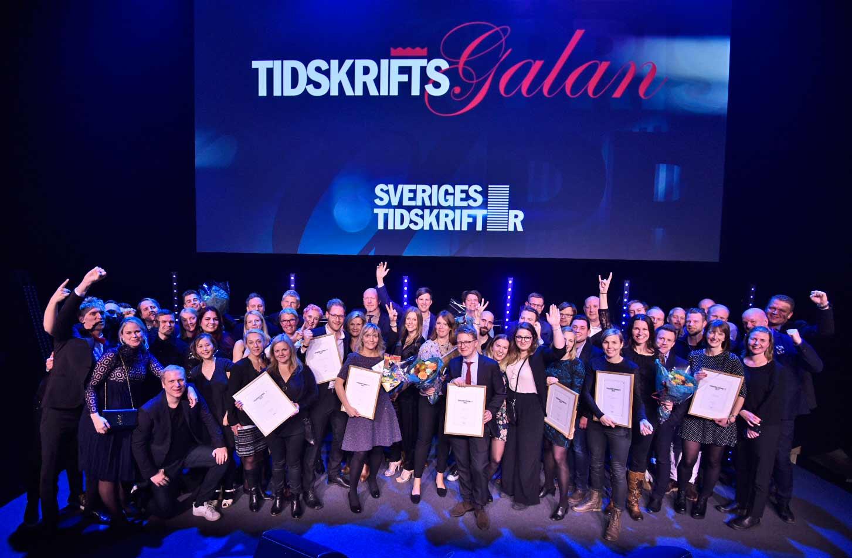 Alla vinnare av Tidskriftspriset 2017. Foto: Anette Persson