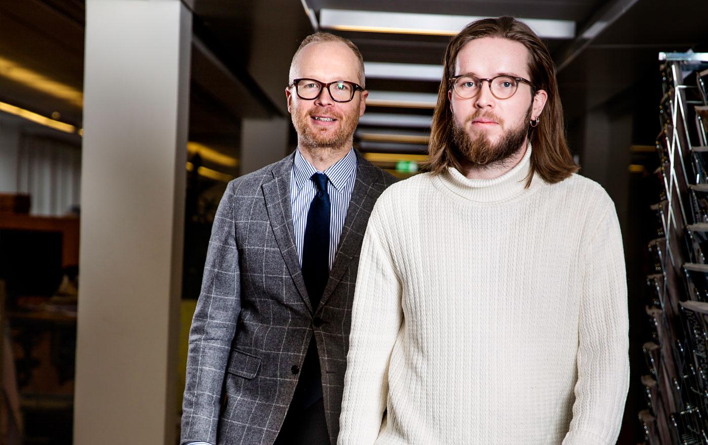 Henrik Ek är editionschef på Metro. David Peterson är redaktör för Viralgranskaren. Avdelningen är både en trafikdragare och viktig för Metros varumärke.