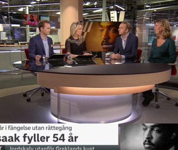 Martin Schibbye och Kerstin Neld i SVT Morgonstudion angående Free Dawit Isaak