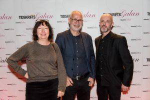 Catharina Byström, Andreas Pauser och Fredrik-Lundell från Pauser Media. Foto: Anette Persson.