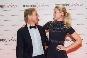 Tidskriftsdagens programledare Patrik Hadenius och Camilla Björkman skapade stående ovationer. Foto: Anette Persson.