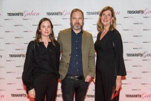 Madeleine Nilsson (Dagens Media), Fredrik Svedjetun (Resumé) och Kerstin Neld (Sveriges Tidskrifter). Foto: Anette Persson.