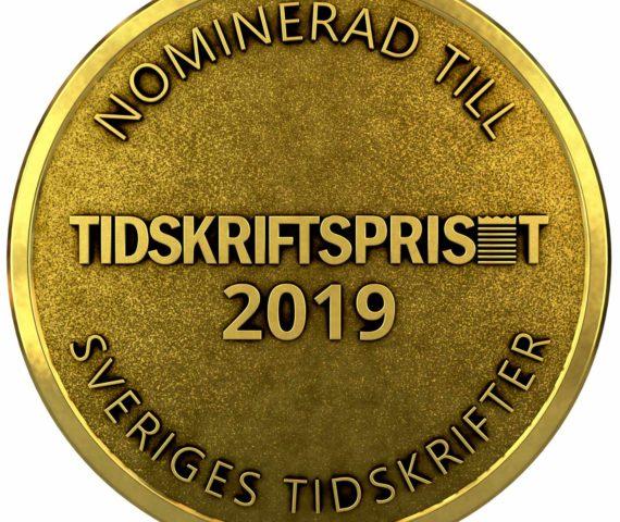 Medalj nominerade i Tidskriftspriset 2019