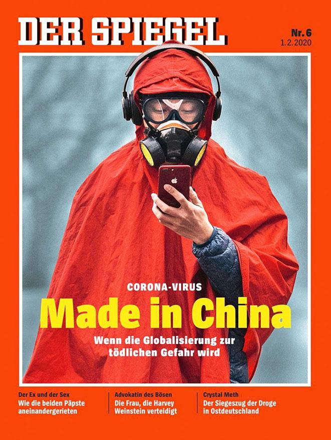 Der Spiegel omslag corona