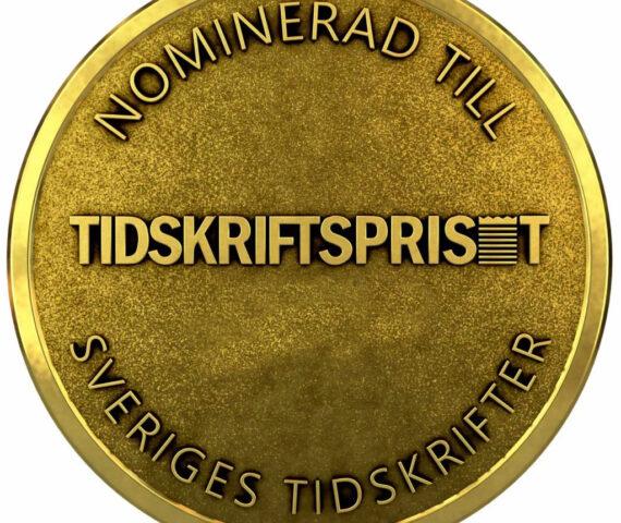 Tidskriftspriset medalj nominerad