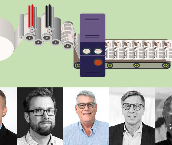 Porträtt på intervjupersoner om hållbar produktion hos tryckerier