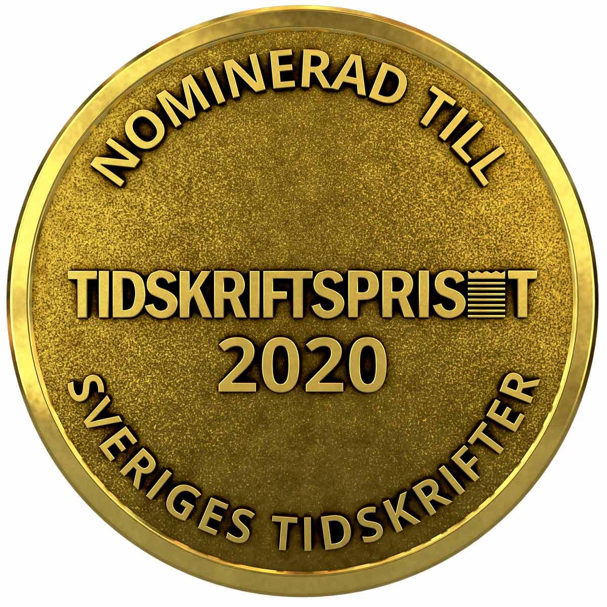 medalj nominerad Tidskriftspriset