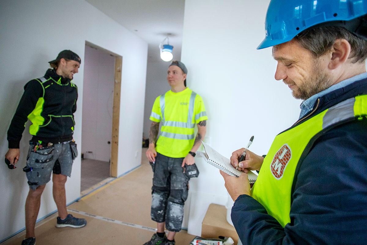En dag med Byggnadsarbetaren. Foto: Anna Simonsson